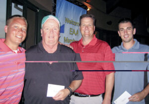 First place foursome: Bill Geisel, Dennis Smith, Joe Everard and Luke Magnant.