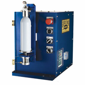 TTV Single Head Gasser Shaker Lab Model. Photo provided by Gerstung Aerosol, Inc.