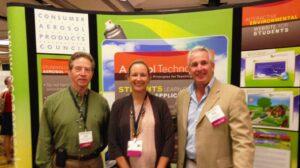 Pictured L to R: Gregory Crawford, SRI; Hillary VanderBand, CAPCO; and Sean Fitzgerald (Cobra Plastics), CAPCO Chairman.