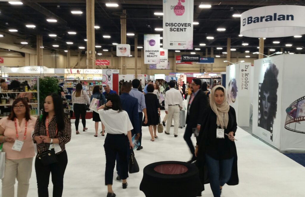 Opening day of Cosmoprof North America in Las Vegas.