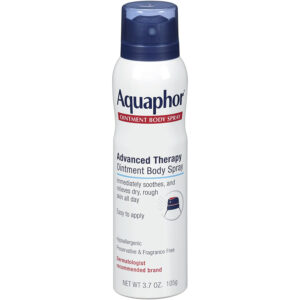 Aquaphor Ointment Body Spray soothes and relieves dry, rough skin. The cooling spray is preservativeand fragrancefree, as well as hypoallergenic. Lindal provides the aerosol valve and actuator.