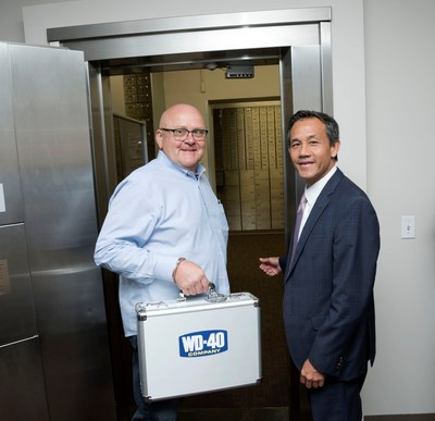 WD-40 Company moves top-secret formula to secure bank vault (PRNewsfoto/WD-40 Company)